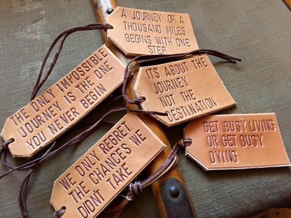 luggage tags handmade travellers